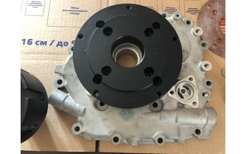 Переходная плита + корзина сцепление для установки китайского двигателя на мотоблок Мотор Сич