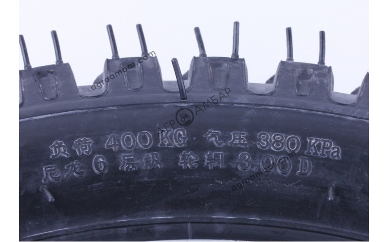 Колесо в сборе 4.00*14 (под 5 болтов) - мототрактор