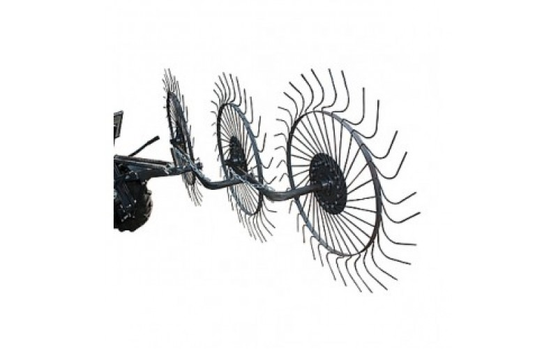 Грабли-ворошилки Солнышко 3-х колёсные (Полтава)