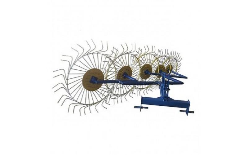 Грабли-ворошилки Солнышко 5-ти колесные (трехточечное крепление, 6 мм)