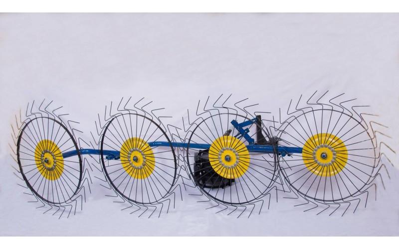 Грабли-ворошилки мотоблочные (на 4 солнышка 4,0 мм)