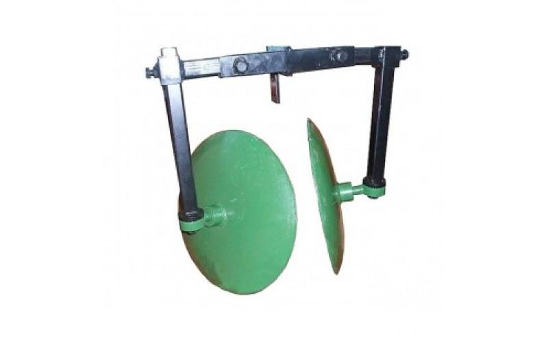 Окучник дисковый регулируемый 400 мм на рамке (два подшипника, шлицевые шайбы)
