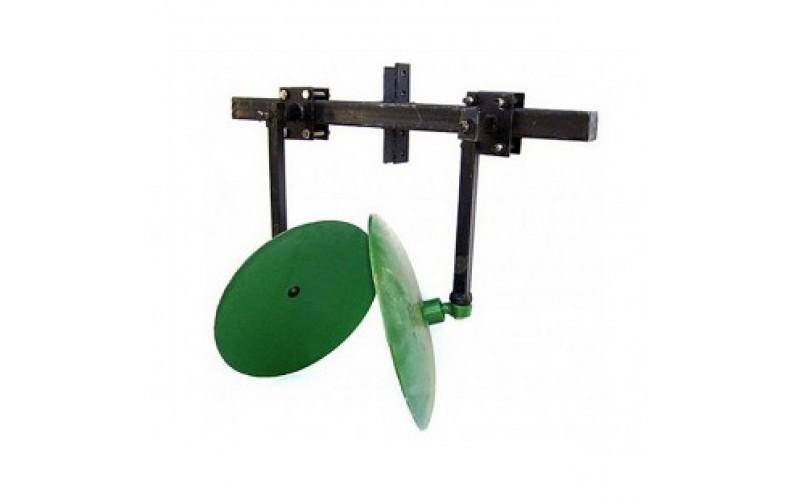 Окучник дисковый регулируемый 450 мм на 2-ой сцепке (подшипники, шлицевые шайбы)