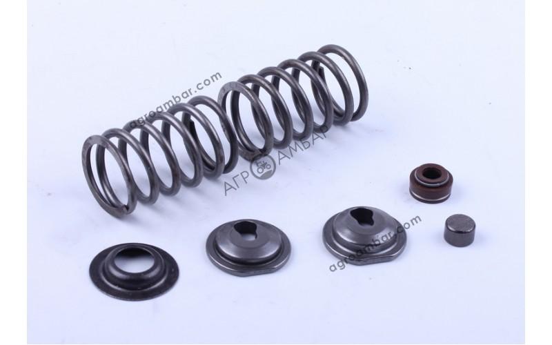 Клапанный механизм комплект (пружины, тарелки, сальн.клап.) на 2 кл. (177F)