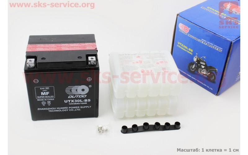 Аккумулятор 28Аh UTX30L-BS (кислотный, сухой)