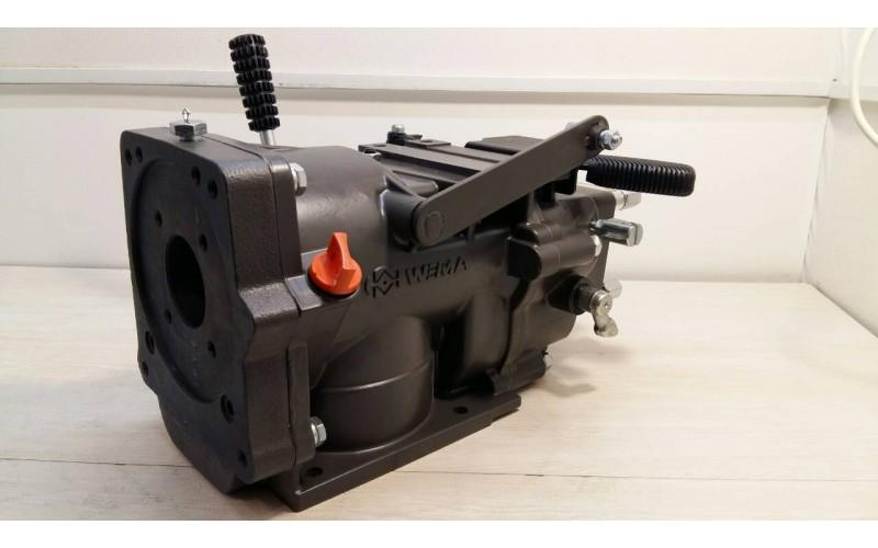КПП в сборе + сцепление (коробка в сборе 4+2) (ходоуменьшитель) (для бензинового двигателя)