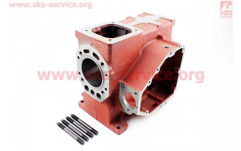 Блок двигателя, поршень 80мм (короткий)+гильза+шпильки 4шт (R180)