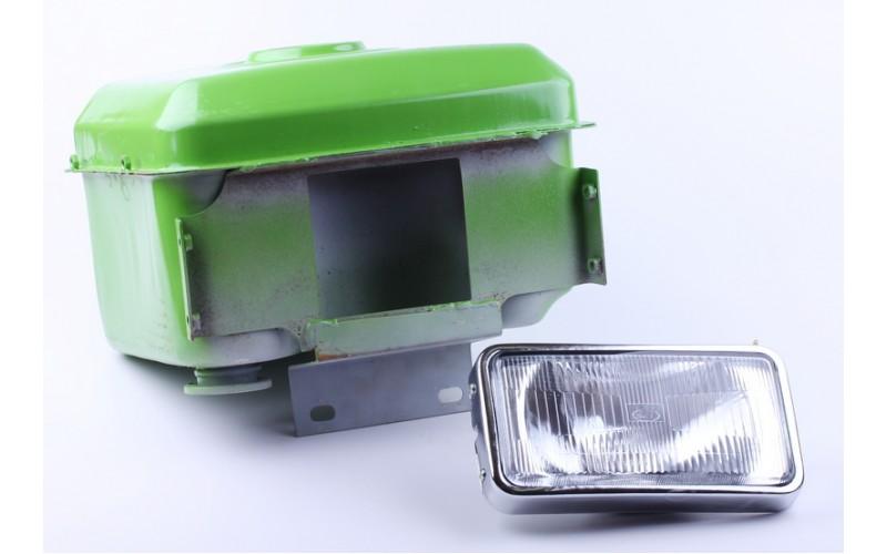Бак топливный + фара потойная горловина (отверстие под кран топливный) (R195)