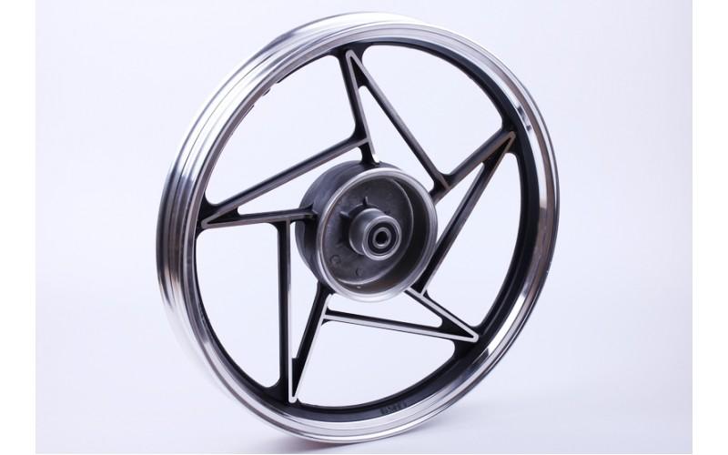 Колесо заднее литое, барабанный тормоз (black) - СВ-125/150